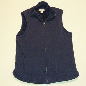 Womens ColdWater Creek Blue Vest